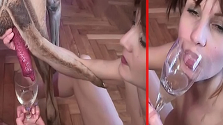 Dog has his XXX tool worshiped by amateur slut who loves animal semen