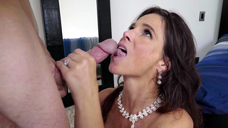 Hot incest sex before wedding culminates for mom with facial cumshot