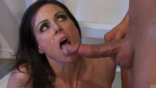 Stepson screwed his stepmother really hard and cums in her insatiable mouth