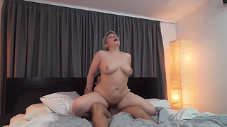 Naughty mom and her son fuck