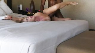 Hidden camera caught wife cheat in hotel sex