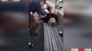 Drunk mom lets friend son eat her pussy.