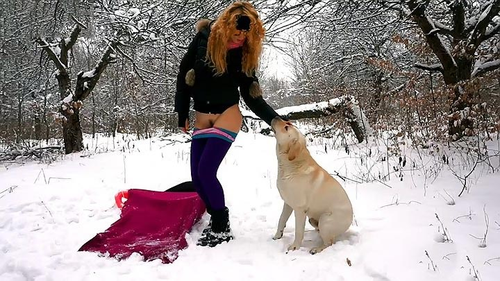 Girl And Dog Sex Wintertime Xxx