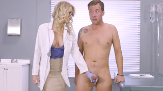 Kinky mature mom in glasses gives a handjob and involve sher son in a xxx incest action
