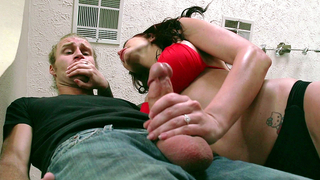 Mom joins her son and his girlfriend for a xxx threesome incest action to help them cum