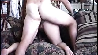 Married paramours quickie sex from behind over back of couch