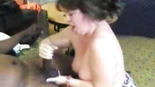 Chubby cuckold hotwife blacked out of cum drum interracial stranger