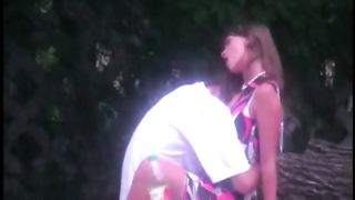 Public non-professional sex in the woods by a local beauty spot voyeur