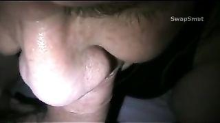 Lip Locked on my Cock Slurping Away Close Up POV Blow Job