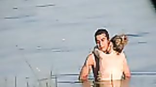 Lake Sex with vehement erect fucking videotaped by a stranger