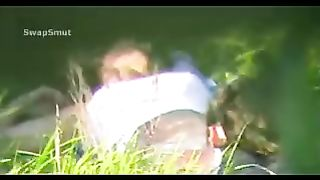 Voyeur sex in public place youthful paramours romantic spot hidden camera