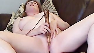 Chubby redheaded older and her sex-toy part 2