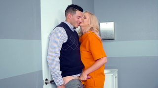 Convicted mom has lack of sex and XXX guy fucks incest MILF in prison