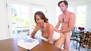On his birthday guy is allowed to have incest XXX sex with hot mom