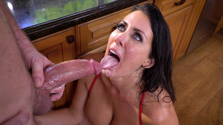 Incest sex in the kitchen helps lad and hot mom fulfill XXX desires