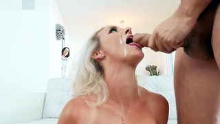 Stunning wife gets her face creamed by her friend husband