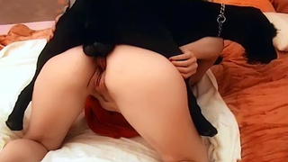 [ZOO SEX HD ] Petite housewife enjoys getting fucked by huge dog
