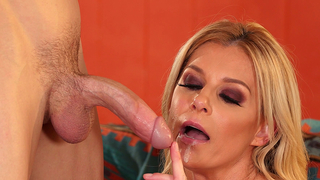 Stud's mom enjoys XXX things with his incest young friend on couch