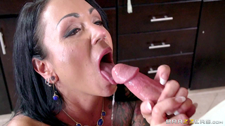 Mom demonstrates son how she can suck giving him XXX blowjob during XXX incest