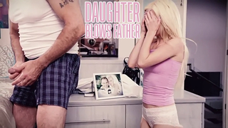 Daughter blows father after catching him jerking to her photo