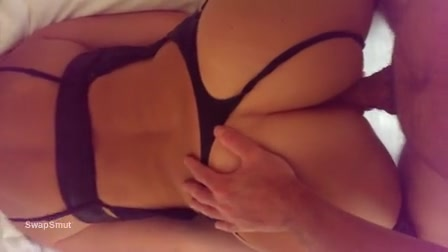 Lingerie from behind fuck