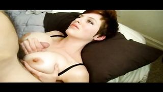 Anne tugjob and tit fuck cumming over her ample love muffins