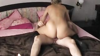 Amateur masturbating with dark marital-device then riding reverse cowgirl