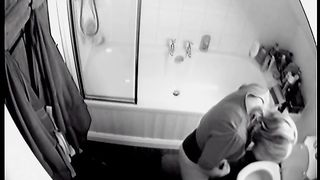 Sexy amateur hidden cam video with a pissy amateur wife