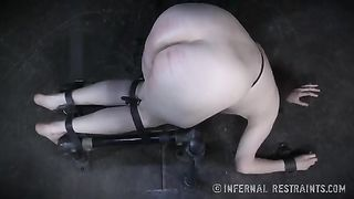 Hornifying brunette babe with great shapes receives sex toys in one as well as the other her holes