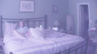Wife caught on hidden cam has a quick orgasm with vibrator.