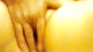 This wife loves it when I finger her chunky cum-hole on non-professional sex movie