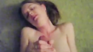 Tough tugjob and cum explosion on my wife's face