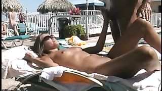 My sexy wife doll sucks a fat dick outdoors