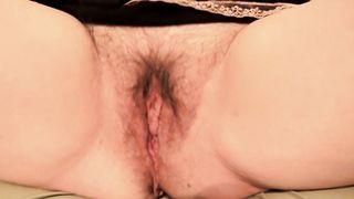 slutty wife widens her curly wet crack