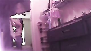 Hidden web camera to catch my plump dilettante white white wife on hidden livecam