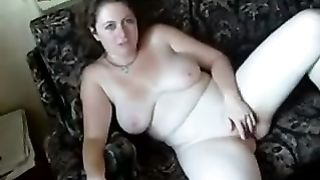 My chubby and sexy brunette hair white bitch is delightsome betwixt her legs