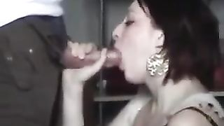 Blowjob from my hawt juvenile white slutty wife in our office room