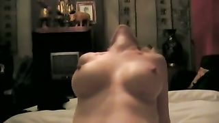 My breasty blond wifey groans sweetly during the time that riding me on top