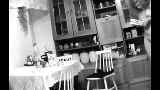 Curvaceous milf Married slut caught stripped in the kitchen on hidden livecam