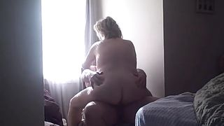 Morning time weenie riding session of my much loved big beautiful woman white bitch