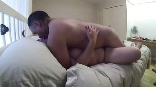 My spoiled dirty slut wife turns out to be a large fan of missionary position