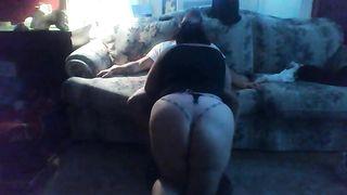 My bulky dark brown black cock sluts shows me her oral stimulation skills